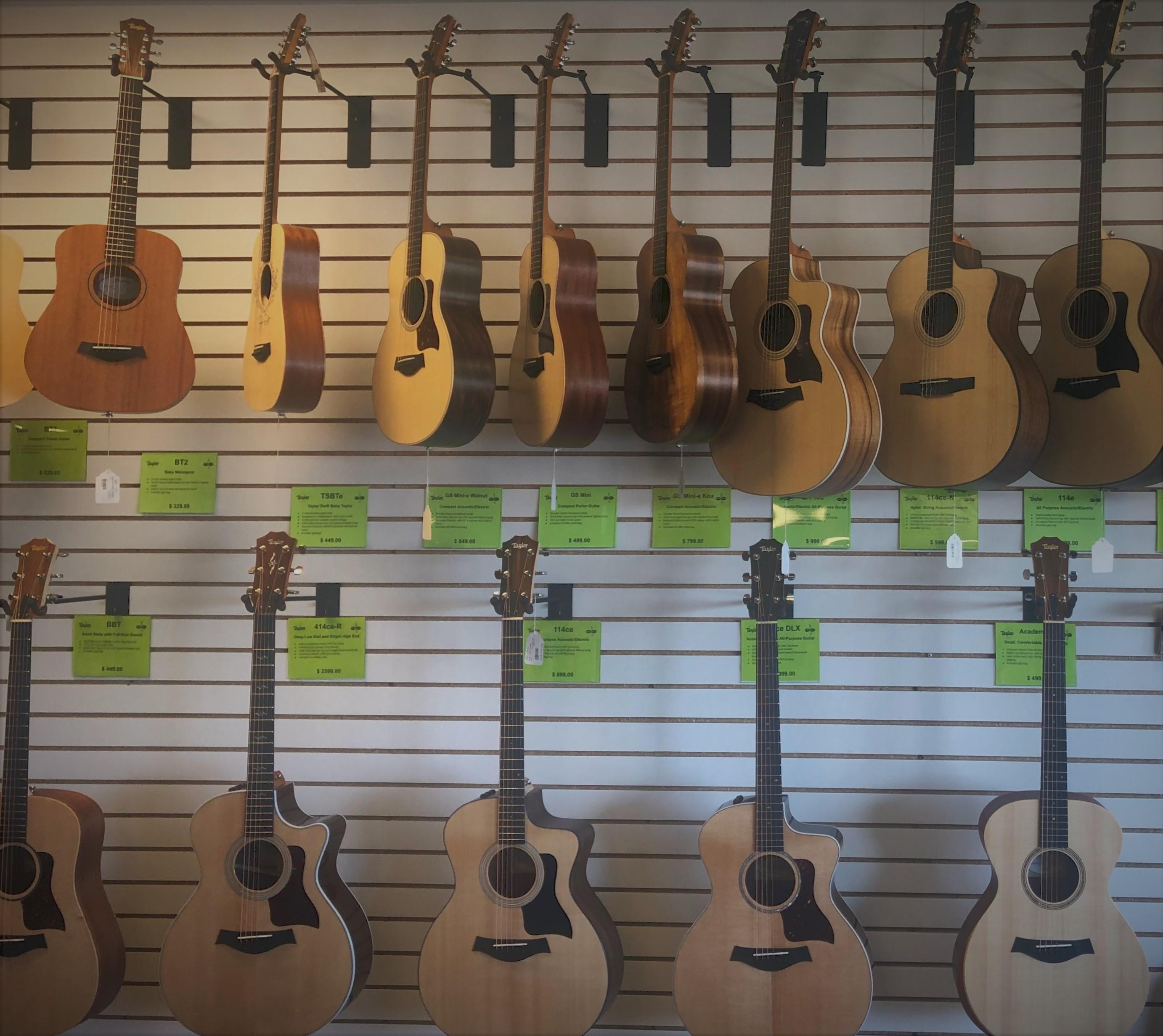 Taylor Guitar display
