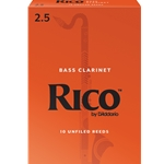 Rico Bass Clarinet Reeds 2.5 - Box of 10